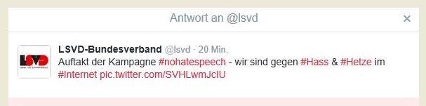 LSVD gegen hatespeech