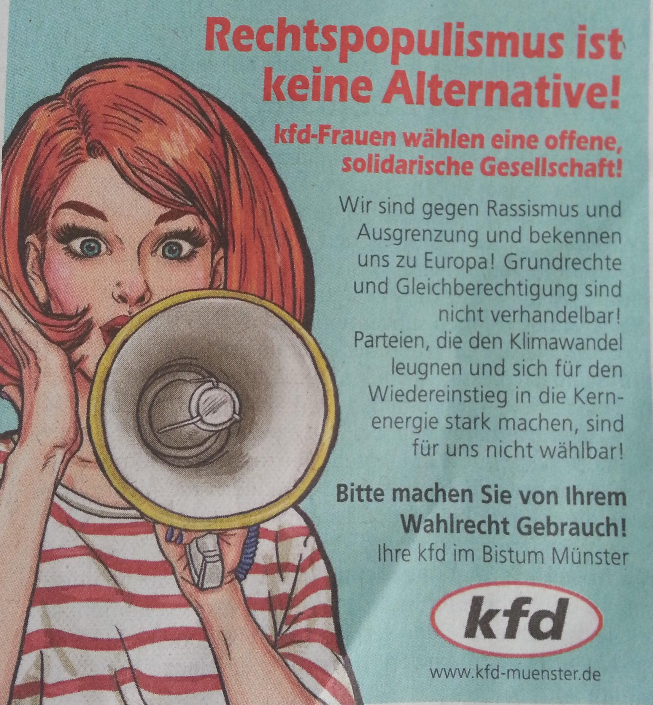 kfd-Anzeige