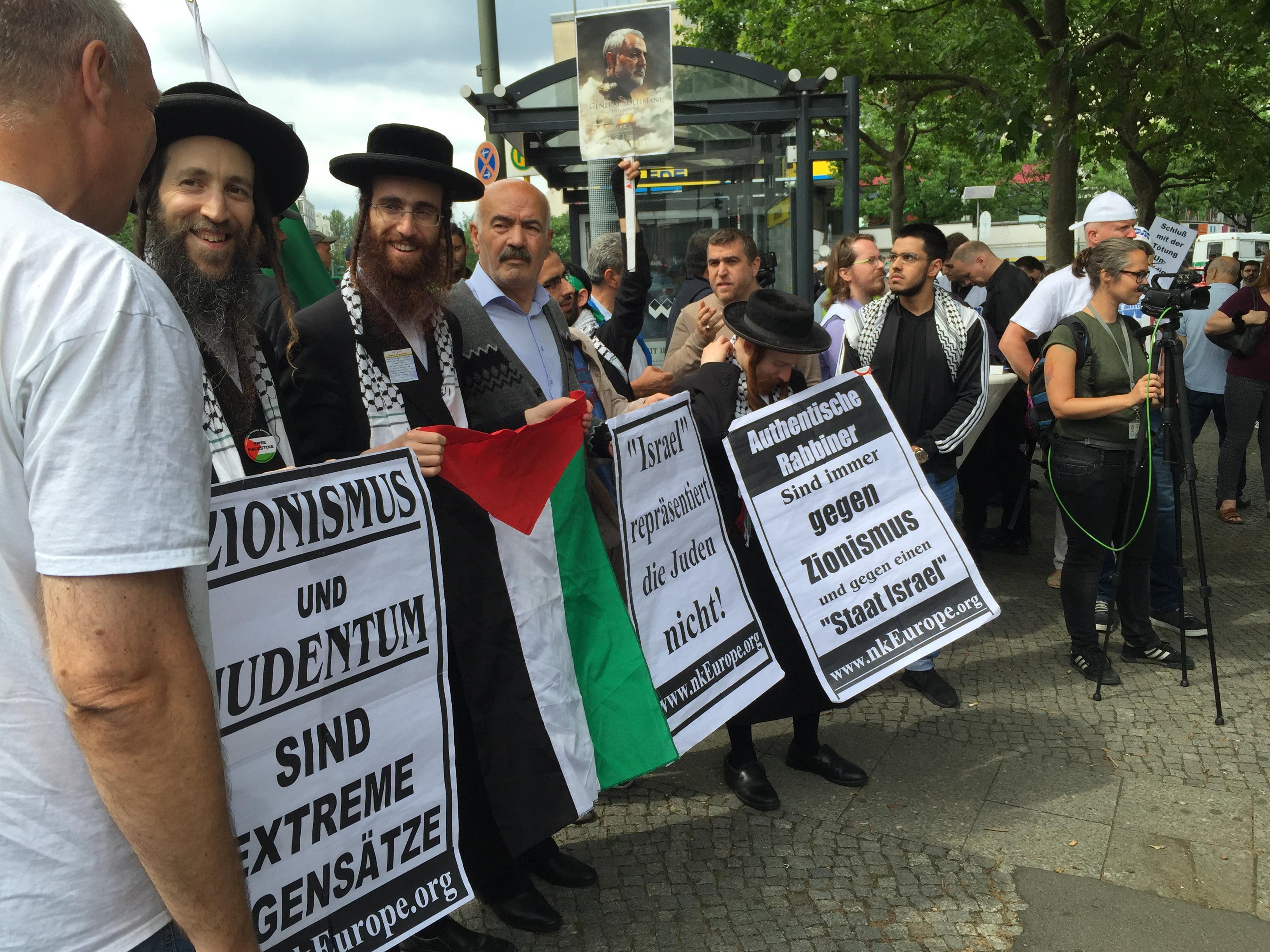 Orthodoxe Juden beim Al-Quds-Tag (c) David Berger.JPG