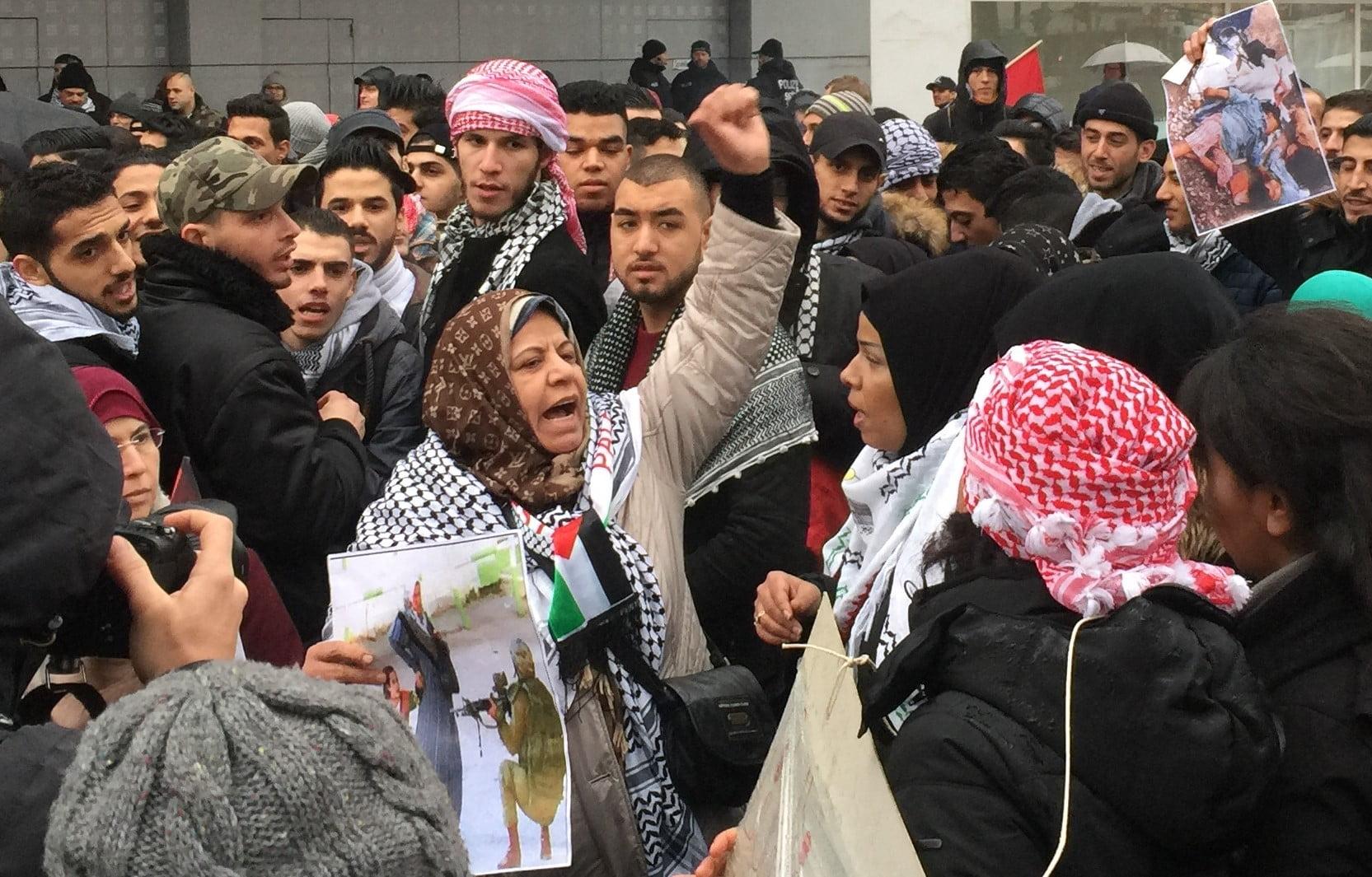 Palästinenser auf kudamm