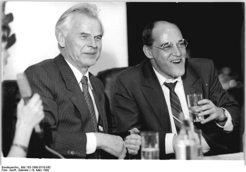 Berlin, PDS-Wahlparty, Hans Modrow, Gregor Gysi