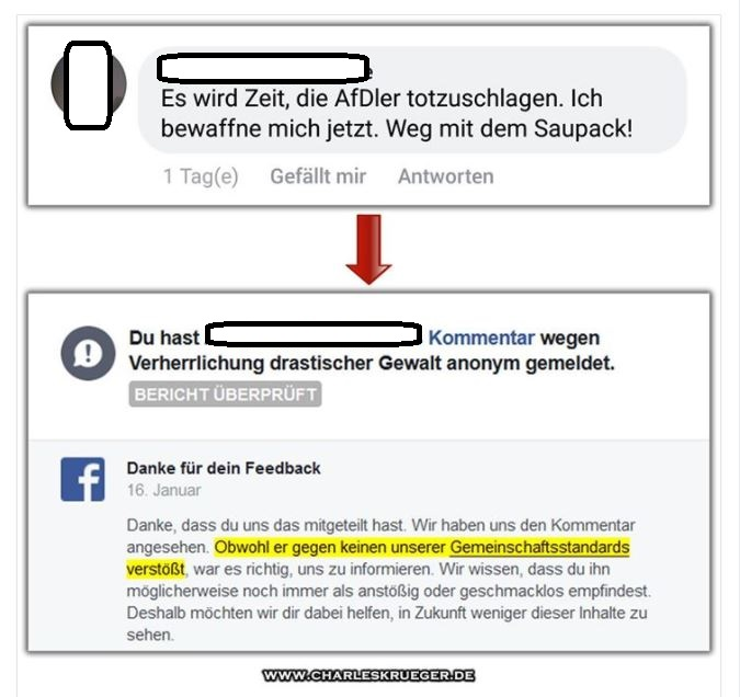 Facebook afd totschlagen