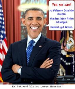 Karikatur von Obama