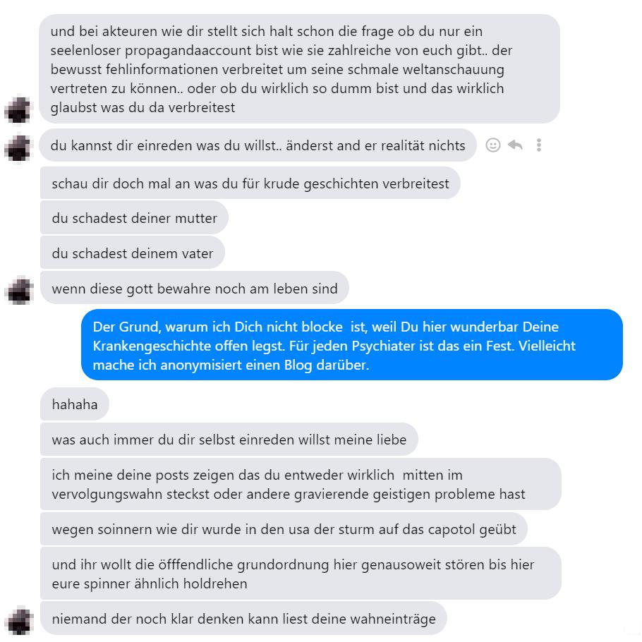 Hass-Mails eines linken Stalkers